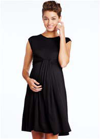 Maternal America - Cascade Dress in Black