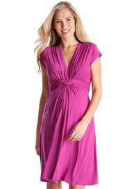 Seraphine - Fuchsia Knot Front Dress