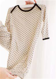 Belabumbum - Dottie Baby Sleep Suit in Khaki Polkadot