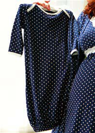 Belabumbum - Dottie Baby Sleep Suit in Navy Polkadot