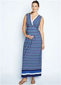 Maternal America - Crystal Print Nursing Maxi Dress - ON SALE