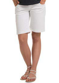 Esprit - White Stretch Denim Shorts