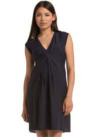 Esprit - French Pleat Front Dress in Cinder Blue