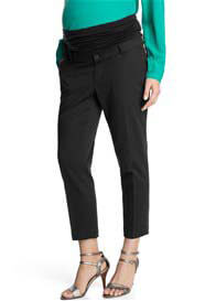 Esprit - Cropped Black Jacquard Dress Pants