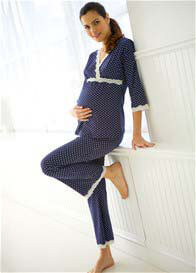 Belabumbum - Dottie Pyjama Set in Navy Polkadot