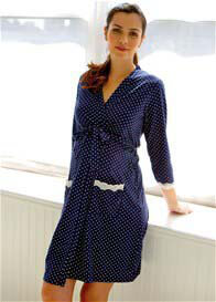 Belabumbum - Dottie Robe in Navy Pollakdot