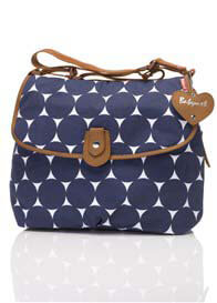 Babymel - Navy Polka Dot Satchel Baby Bag