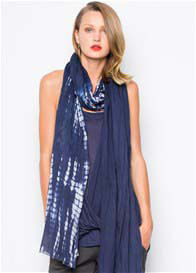 LA Made - Aligator Dye Scarf in Inkblot