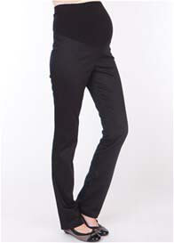 Seraphine - Black Slim Leg Cotton Trousers