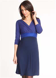 Seraphine - Royal/Navy Colourblock Nursing Dress