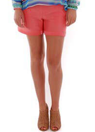 Everly Grey - Roxey Short in Coral - ON SALE