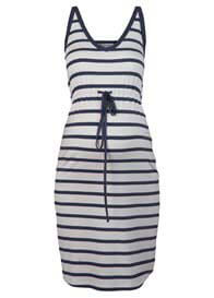 Queen mum - Beach Dress in White/Blue Stripe