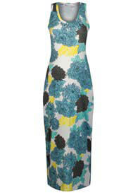 Queen mum - Big Flower Print Maxi Dress