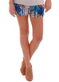 Everly Grey - Noel Short in Feather Print