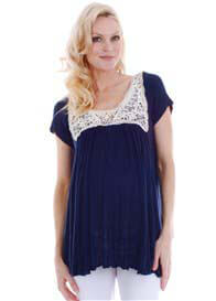 Everly Grey - Regan Top in Navy