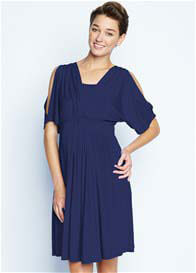 Maternal America - Split Sleeve Nursing Dress in Navy - ON SALE