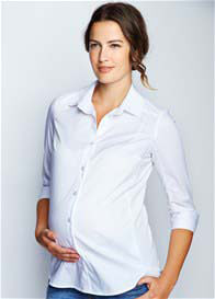 Maternal America - Poplin Blouse in White