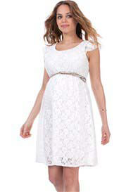 Seraphine - Pretty Lace Dress in Off-White