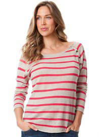 Seraphine - Linen Striped Nursing Jumper