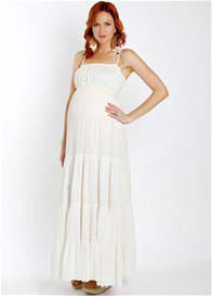 Everly Grey -  Poppy Maxi Dress in Ivory