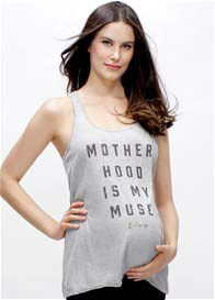 Blanqi - Motherhood Is My Muse Racerback Tank in Grey