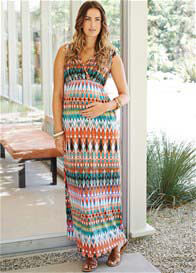 Maternal America - Sunset Print Maxi Dress