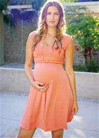 Maternal America - Mini Sweetheart Dress in Coral - ON SALE