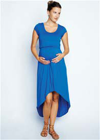 Maternal America - Hi-Low Nursing Dress in Royal Blue
