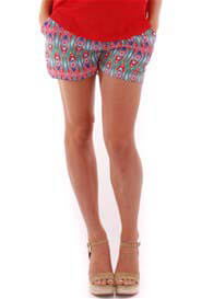 Everly Grey - Noel Shorts in Aztec Print