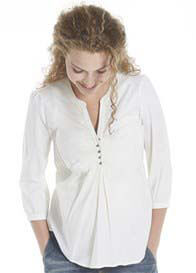 Queen mum - Cotton Blouse in Off-White