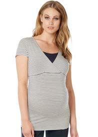 Noppies - Dolores Nursing Top in Dark Blue Stripe