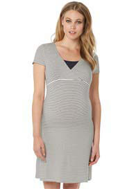 Noppies - Susa Nursing Dress in Dark Blue Stripe