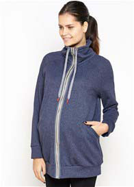 Imanimo - Piper Zip Sweatshirt in Navy
