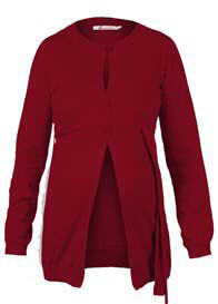 Queen mum - Cotton Knit Cardigan in Red