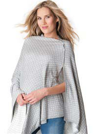 Seraphine - Reversible Bamboo Nursing Shawl in Grey Polkadot