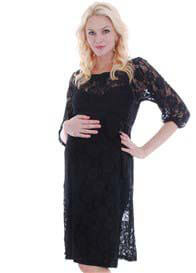 Everly Grey - Arianna Lace Dress in Black