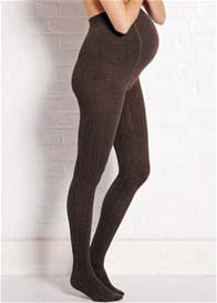 Noppies - Cable Knit Tights in Dark Brown