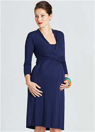 Milky Way - Theory Twist Front Nursing Dress in Navy