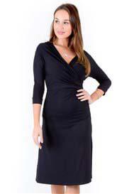 Quack Nursingwear - Shell Nursing Dress in Black