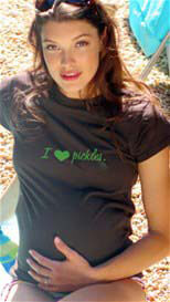2 chix - I Heart Pickles Maternity Tee