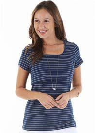 Trimester™ - Lyssa Nursing T-Shirt in Navy Stripe