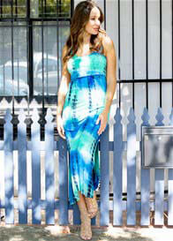 Trimester® - Misty Layered Nursing Maxi Dress