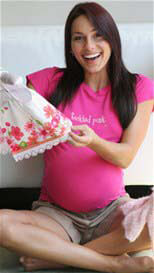 2 chix - Tickled Pink Maternity Tee