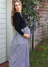 Trimester® - Wyatt Gingham Nursing Maxi Dress