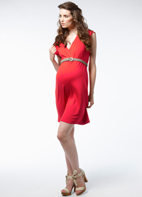 Noppies Norsewood Red Maternity Dress