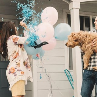 Gender reveal inspiration via Instagram