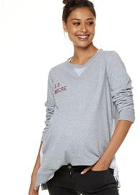 Bae - On Your Side Snap Sweat in Grey