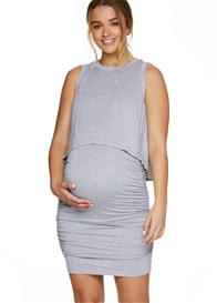 Bae - Rising Sun Nursing Dress in Grey