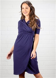 Dote - Ellen Breastfeeding Wrap Dress in Navy