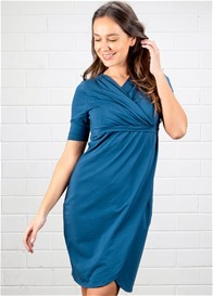 Dote - Ellen Breastfeeding Wrap Dress in Teal